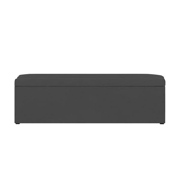 Tmavě šedý otoman s úložným prostorem Cosmopolitan Design LA, 200x47cm