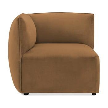 Modul colț stânga pentru canapea Vivonita Velvet Cube maro