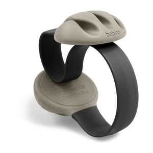 Černá úchytka na kabely na stůl Bobino® Cable Clip