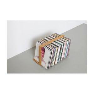 Stojan na gramofonové desky z dubového dřeva das kleine b Vinyl, 52 x 35 cm