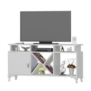 Bílý TV stolek Homitis Gardenia