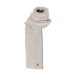 Béžovomodrá pletená kašmírová šála Bel cashmere Knit, 200x30cm