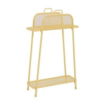 Etajeră de balcon metalică ADDU MWH, înălțime 105,5 cm, galben