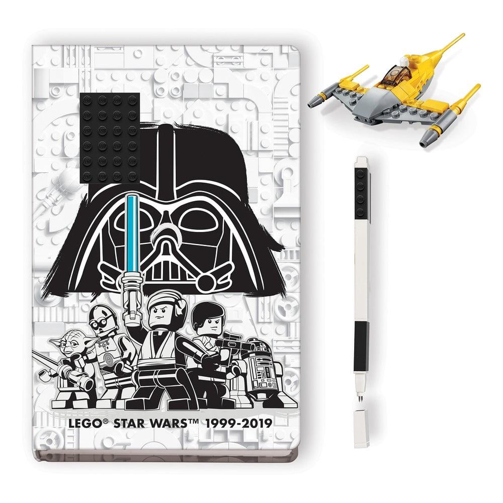 Sada zápisníku, pera astavebnice LEGO® Star Wars Naboo Starfighter