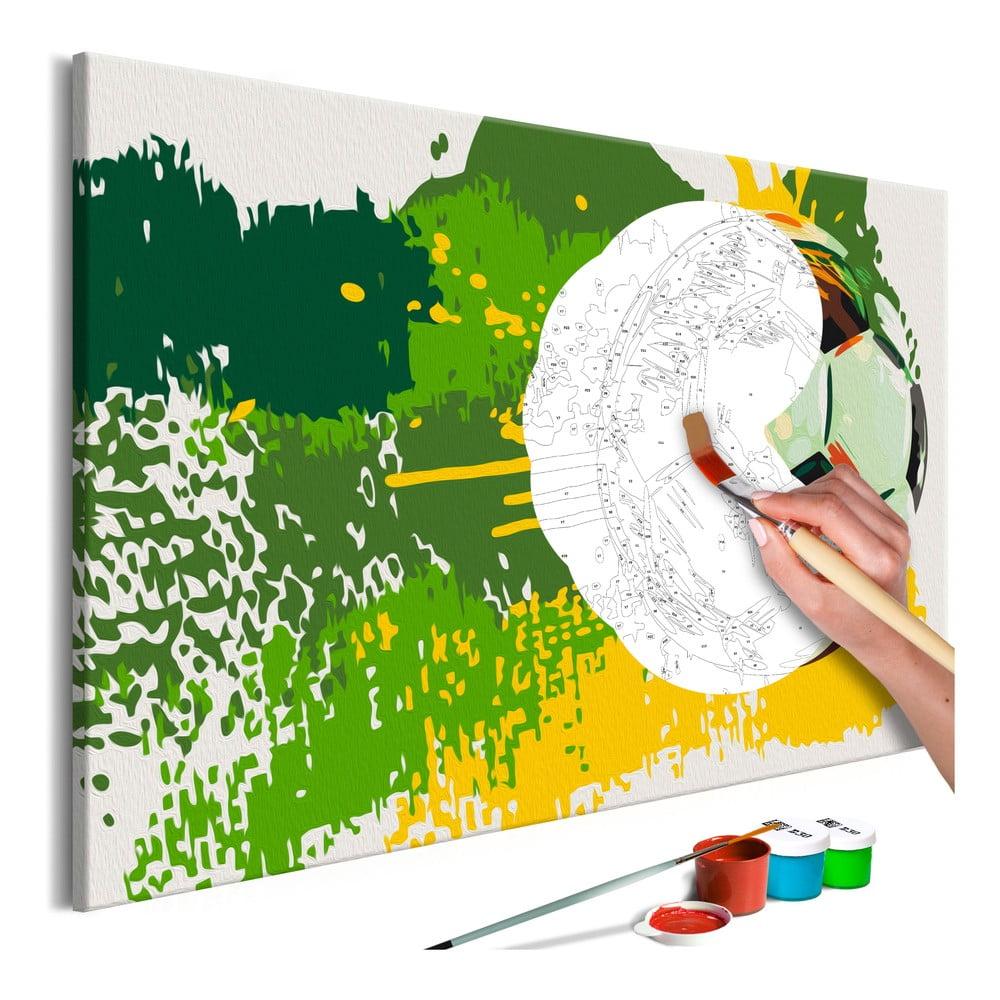DIY set na tvorbu vlastního obrazu na plátně Artgeist Football Emotions, 60x40 cm