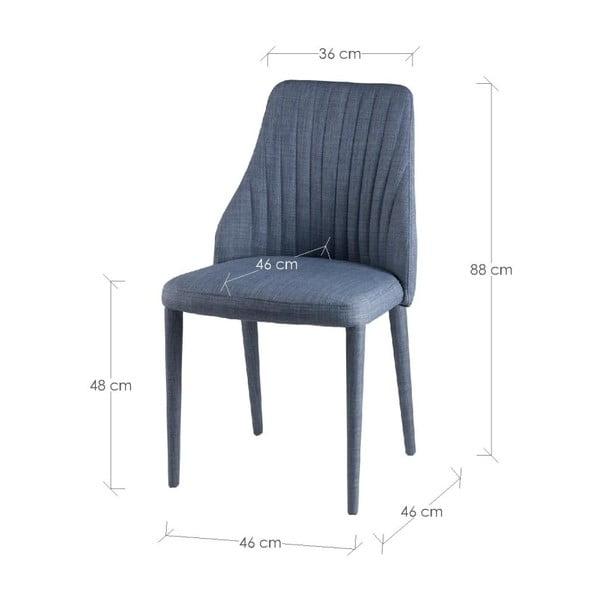 Set 2 scaune sømcasa Dora, albastru deschis