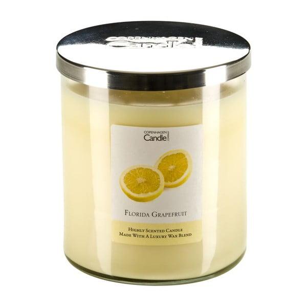 Aroma svíčka Copenhagen Candles  Florida Grapefruit, doba hoření 70 hodin