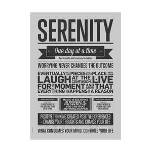 Autorský plakát Serenity Grey, 50x70 cm