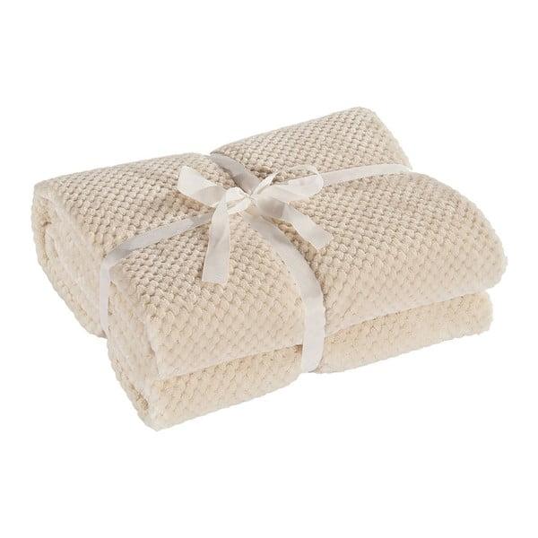 Krémovobiela deka z mikrovlákna DecoKing Henry, 70×150cm
