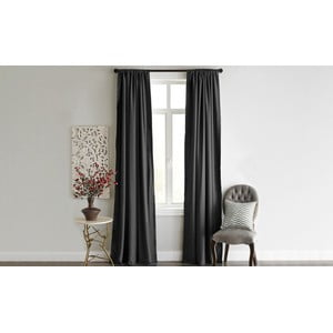 Antracitový závěs Home De Bleu Blackout Curtain, 140 x 240 cm