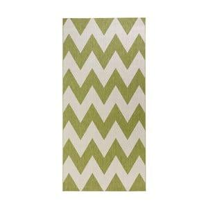 Zelenobílý koberec vhodný do exteriéru Bougari Unique, 80x150cm