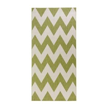 Covor potrivit pentru exterior Bougari Unique, 80 x 200 cm, verde-alb imagine
