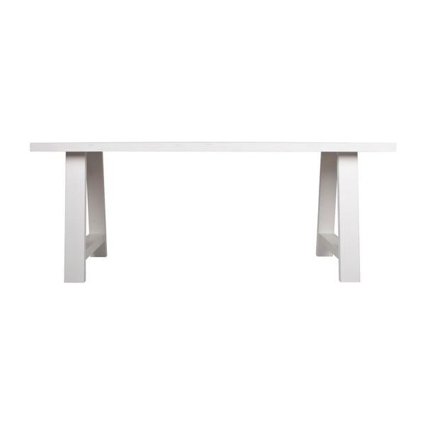 Bílý stůl z masivního dřeva Zuiver A Framed, 180 x 85 cm