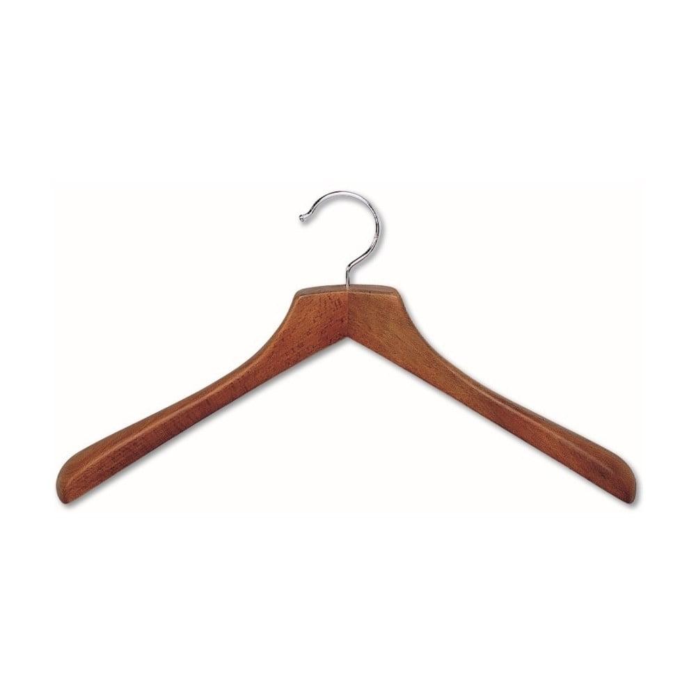 Hnědé ramínko z bukového dřeva na kabáty Cosatto Hanger