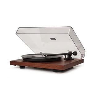 Tmavě hnědý gramofon Crosley C10