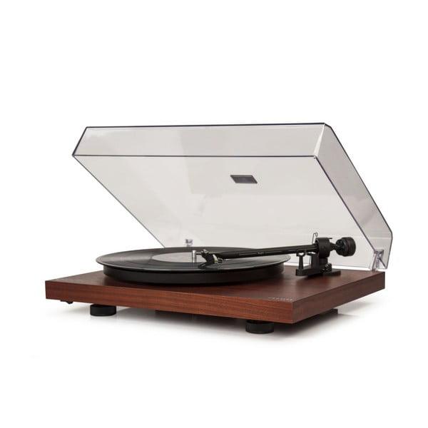 Ciemnobrązowy gramofon Crosley C10