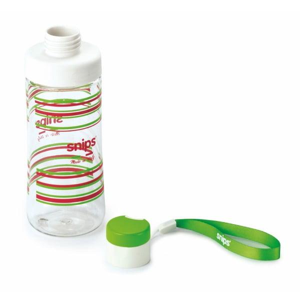 Zelená lahev na vodu Snips Decorated,500ml