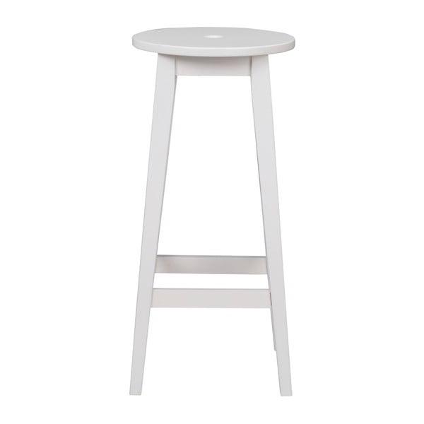 Bílá dubová stolička Rowico Gorgona, výška 75 cm