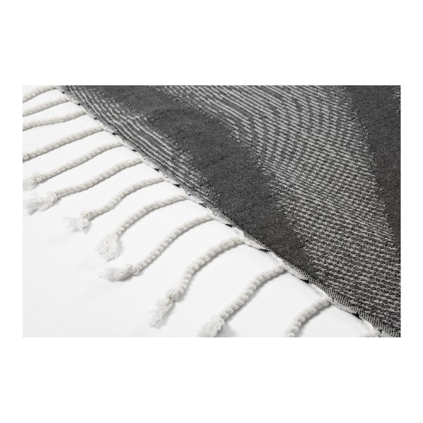 Tmavě šedá hammam osuška z bavlněných a bambusových vláken Begonville Magnetic, 180x95cm
