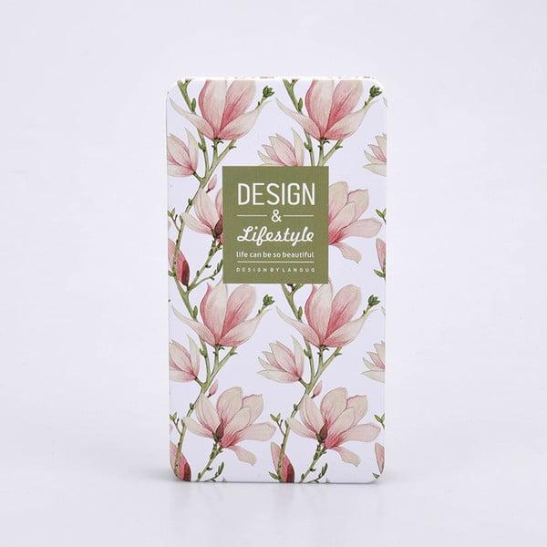 Plechový zápisník Garden, růžový