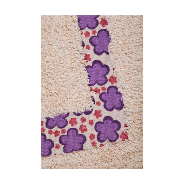 Sada 2 koupelnových předložek Flower, fialová