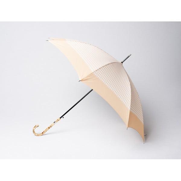 Deštník Houndstooth, béžový