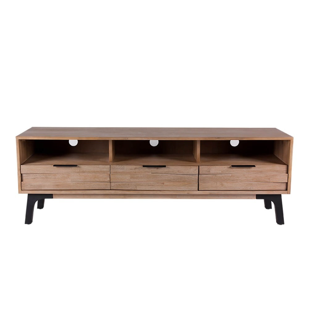 TV stolek z akáciového dřeva sømcasa Amsterdam