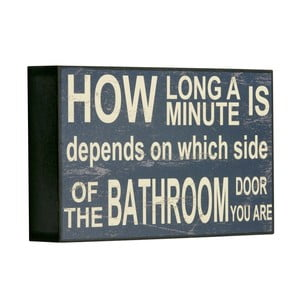 Cedule How long a minute is, 16x25x5 cm