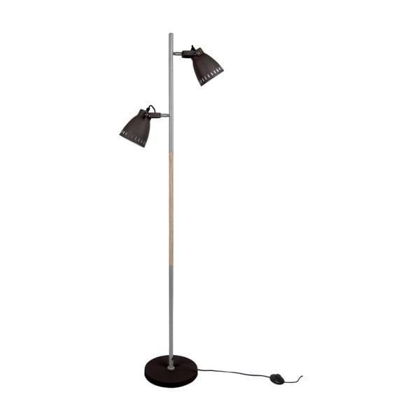 Czarna lampa podłogowa Leitmotiv Mingle