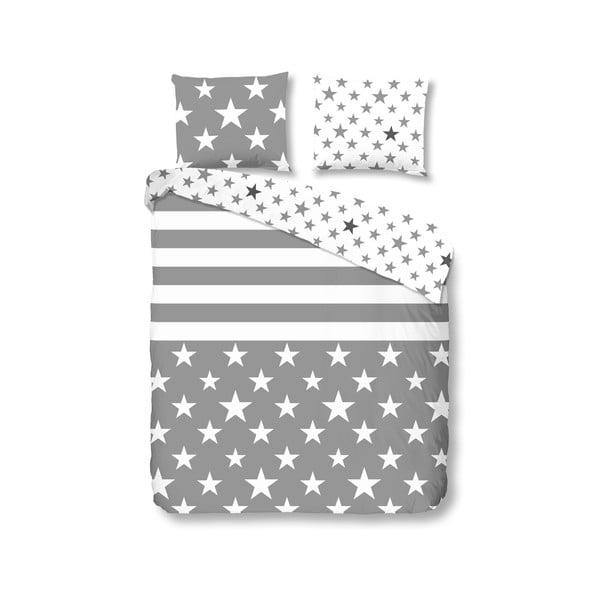 Povlečení Stars and Stripes 200 x 200 cm, šedé