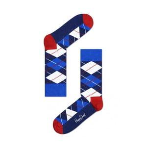 Ponožky Happy Socks Blue Check, vel. 36-40