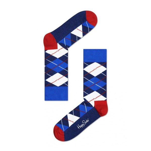 Ponožky Happy Socks Blue Check, vel. 36-40