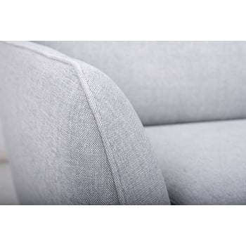 Canapea cu șezlong pe partea dreaptă SoftNord Paris, gri de la Softnord