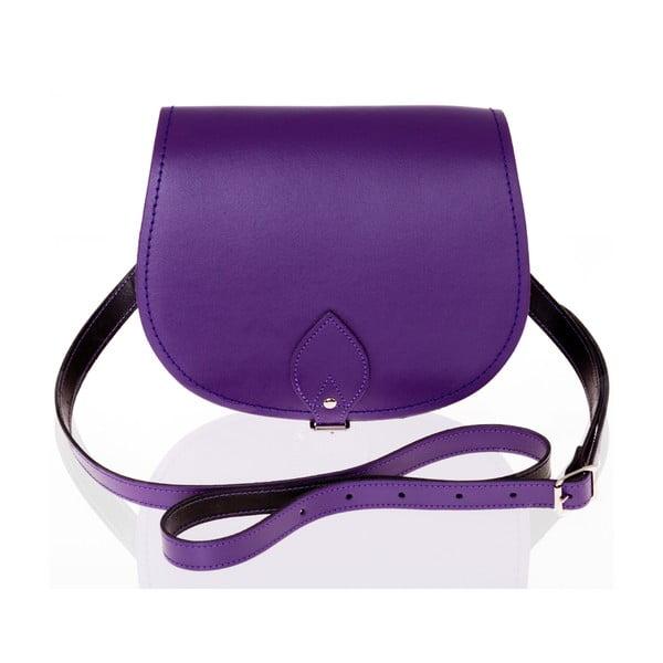 Kožená kabelka Saddle 29 cm, fialová