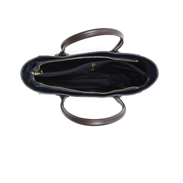 Kožená kabelka Cuco, tmavě modrá