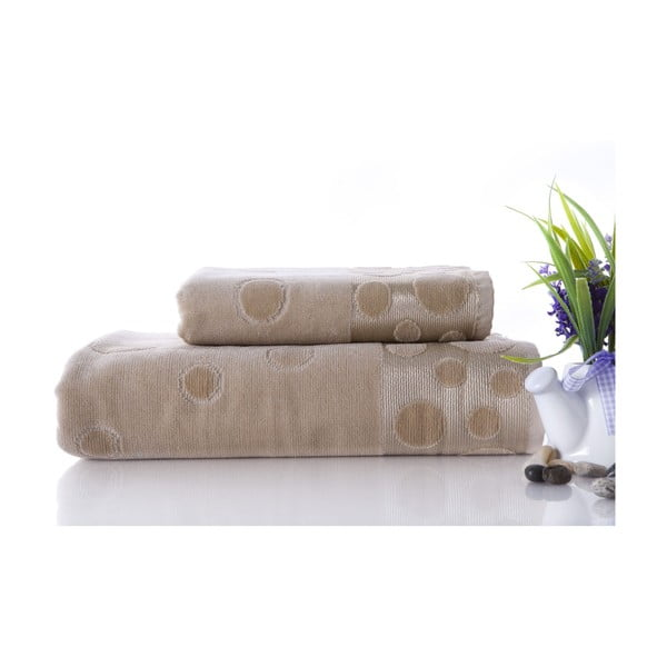 Set dvou ručníků Tropical Beige, 70x140 a 50x90 cm