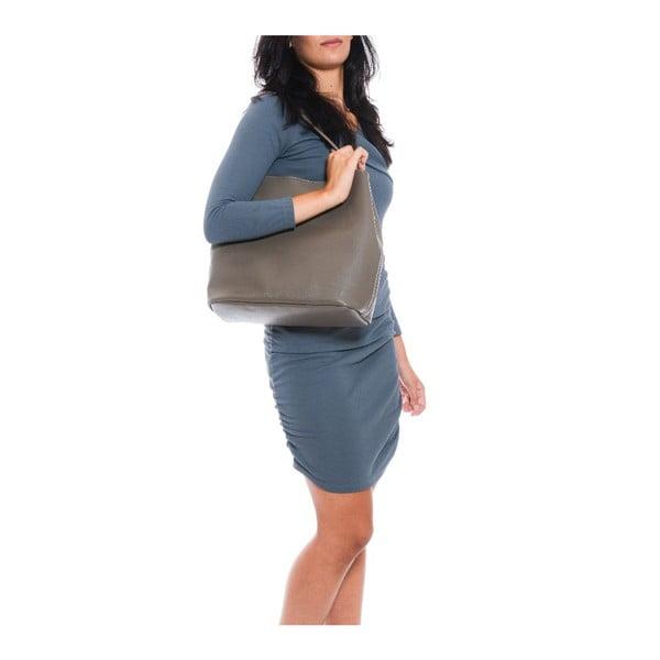 Kožená kabelka Vittoria, šedohnědá