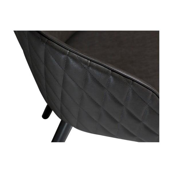 Tmavě šedá koženková židle DAN-FORM Denmark Dual
