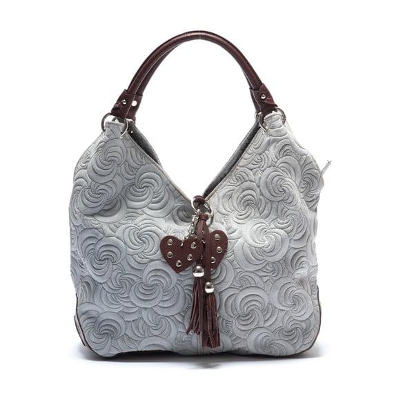 Kožená kabelka Mangotti 8002, šedá
