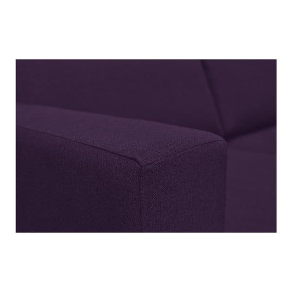 Tmavě fialová trojmístná pohovka Kooko Home Disco