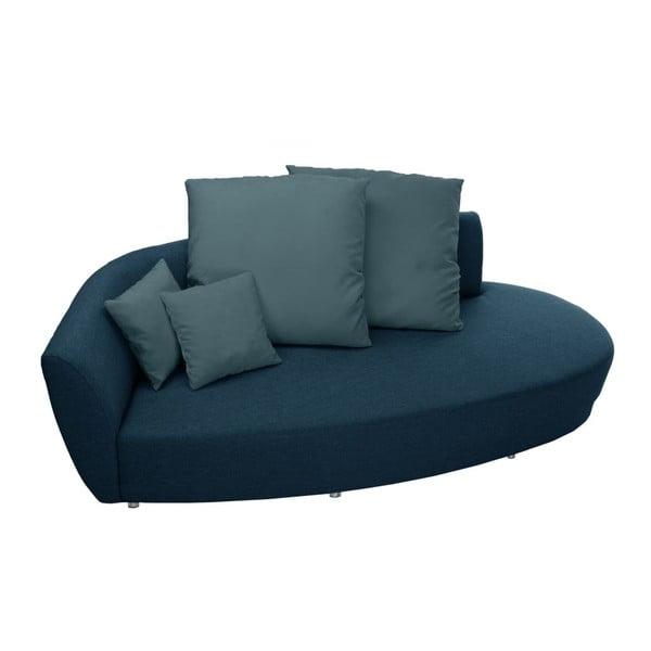 Canapea cu trei locuri Florenzzi Viotti Turquoise, spătar pe partea stângă
