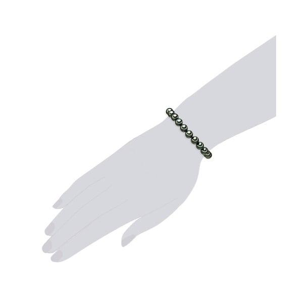 Náramek se zelenými perlami ⌀8 mm Perldesse Muschel, délka 21 cm