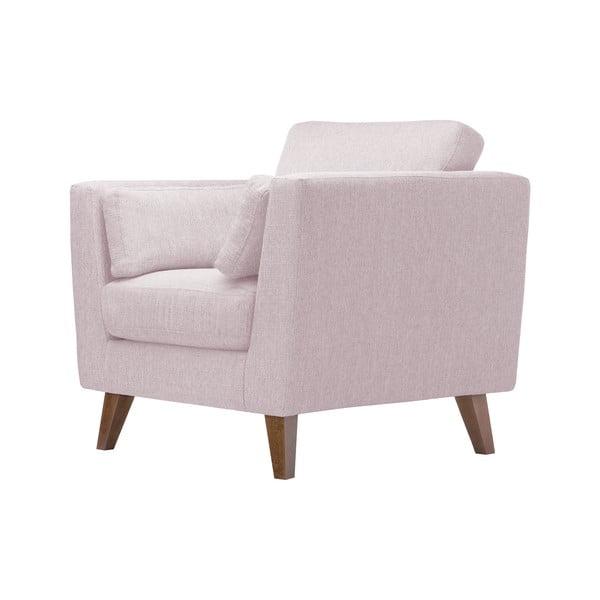 Pudrově růžové křeslo Jalouse Maison Elisa