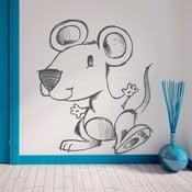 Samolepka Tančící myška, 70x60 cm
