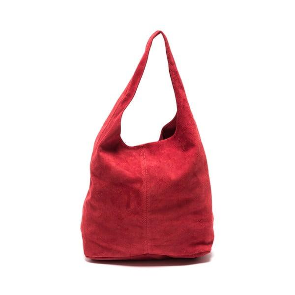 Geantă de piele Roberta M 885 Rosso, roșu