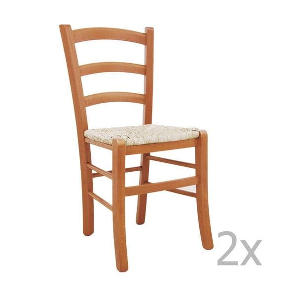 Sada 2 židlí Castagnetti Lavagna, karamel