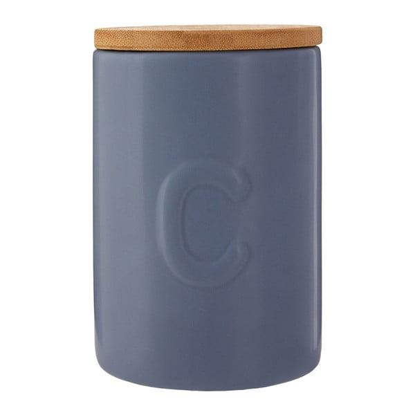 Modrá dóza na kávu s bambusovým víkem Premier Housewares Fenwick