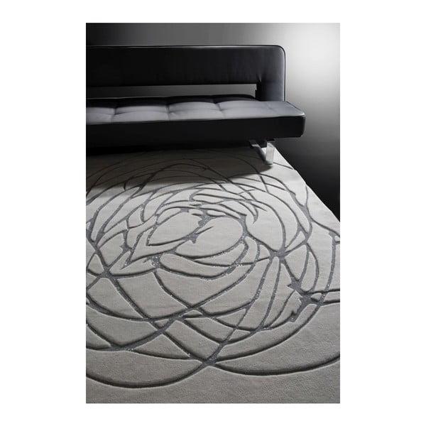 Vlněný koberec Chloe Silver, 140x200 cm