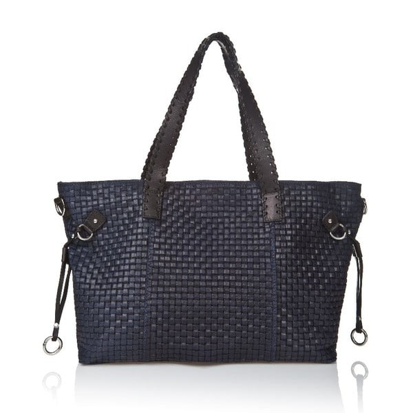 Kožená kabelka Markese 1156, modrá