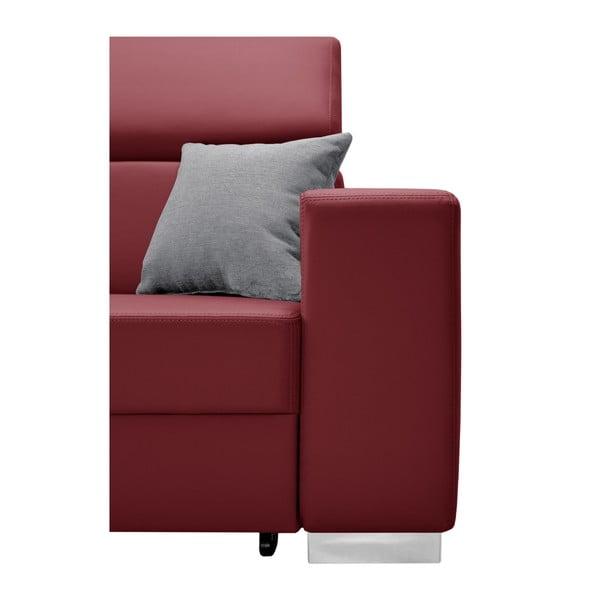 Červená rozkládací sedačka Interieur De Famille Paris Tresor, levý roh
